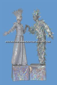 Ice People Human Statues for Christmas Events