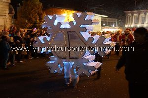 Giant Snowflake Act for Christmas Events