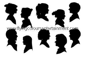 Silhouette Artists for Christmas Parties